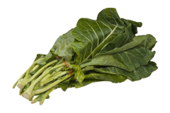 Collard greens are a safe and healthy food to feed your African grey parrot