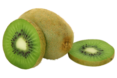 Peeled kiwi fruit can be consumed safely by an African grey